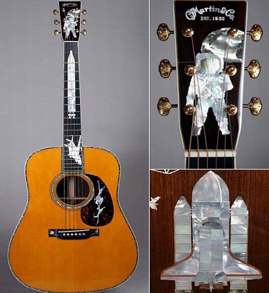 Martinu0027s u0027History of Flightu0027 custom inlaid guitar $150,000 Music - has no objection