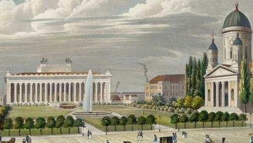 Der Lustgarten mit dem Museum und dem Dom in Berlin 1843, Wilhelm Schröder (1817-1871) © Stadtmuseum Berlin