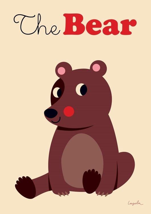 #Bear #Poster by #Ingela beer poster 50x70 from www.kidsdinge.com www.facebook.com/pages/kidsdingecom-Origineel-speelgoed-hebbedingen-voor-hippe-kids/160122710686387?sk=wall http://instagram.com/kidsdinge #Kidsdinge #Toys #Speelgoed