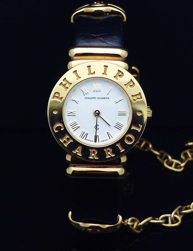 NEW! RETRO PHILIPPE CHARRIOL Swiss Ladies Watch 18K Gold Plate Mid 90's NOS  I bought one last night :D