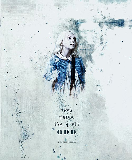 Love Luna Lovegood, one of my favorites HP characters.