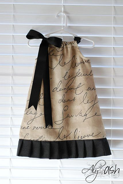Pillowcase Dress Tutorial. This one is so cute! I want to try to make pillowcase aprons.