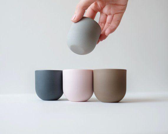 Porcelain espresso cup set   Espresso cups   Ceramic cups handmade   Coffee cup   Pottery mug   Modern ceramics   Tableware   Small cup