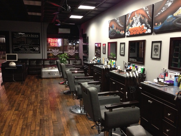 15 best images about barbershop pics on pinterest for Ideas for barbershop interior designs