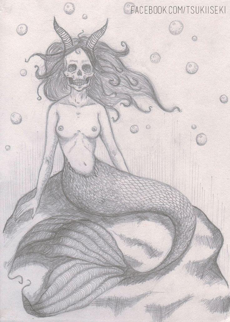 https://www.facebook.com/tsukiiseki/  #drawing #mermaid