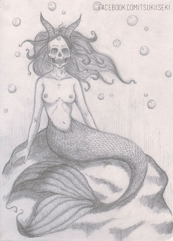 https://www.facebook.com/tsukiiseki/  #drawing #mermaid