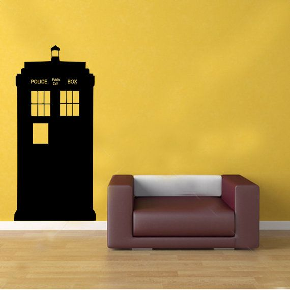 doctor who tardis police box kids vinyl wall sticker decal art transfer graphic via. Black Bedroom Furniture Sets. Home Design Ideas