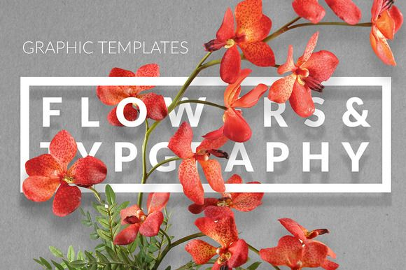 #Flowers & #Typography Mock-up by DesignSomething on creativemarket
