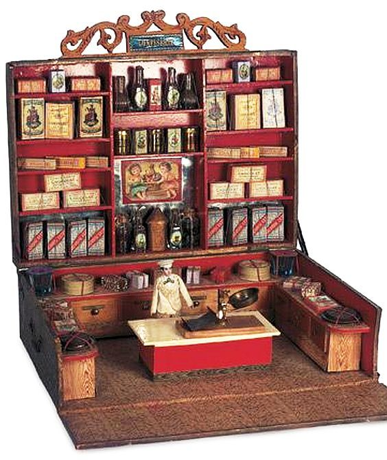 Toy Grocery Store with all kind of Accessories. Early 1900, France