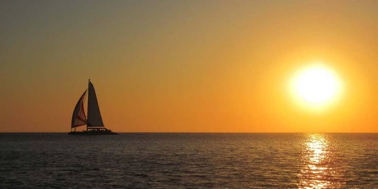 Imagine yourself on a private yacht from Sunset Oia Sailing Cruises watching the beautiful sunset in Greece