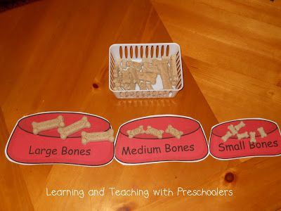 Got Milk Bones.  Size sorting activities that meet the common core standards and it is FREE