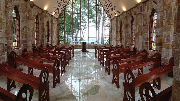 Inside The Chapel, Montville with amazing hinterland views over the Glasshouse Mountains  http://thechapel.website/