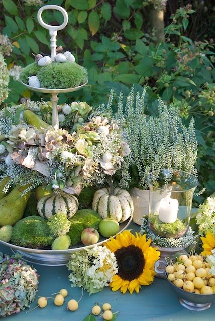 Etagere met herfst deco