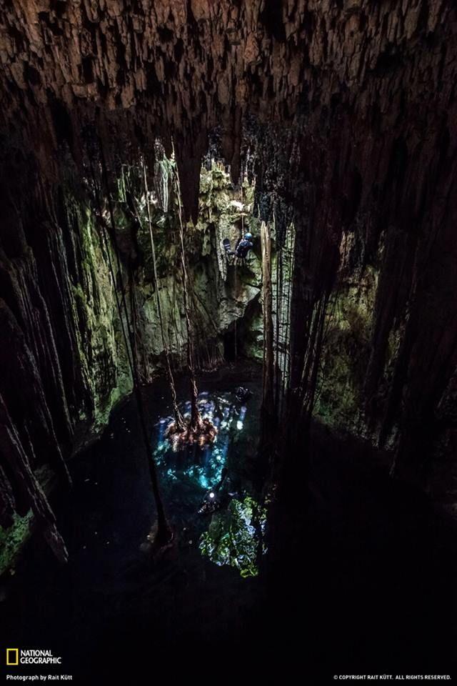 Mexico underground cave