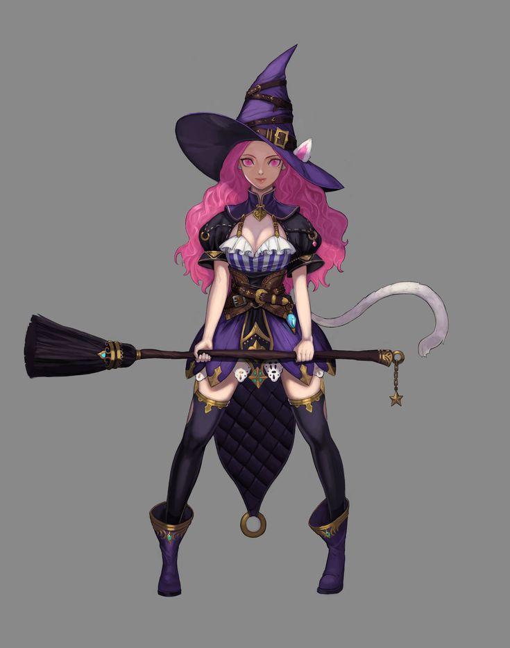 Cat Witch Lady