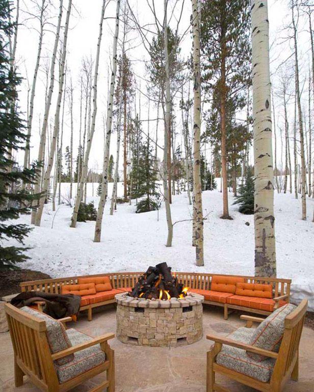 Winter fire pit inspiration.   Fire pit backyard, Backyard ... on Fire Pit Inspiration  id=83478