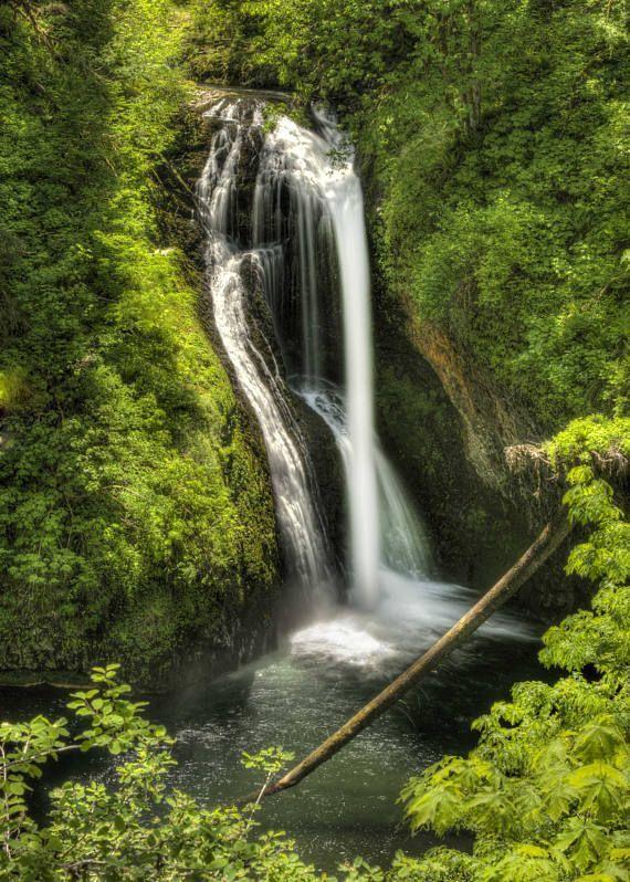 Waterfall Photography Waterfall Photo Lower Butte Creek Falls Oregon Landscape Photo Nature Print Fine Art Digital Download Waterfall Photography Waterfall Photo Landscape Photos