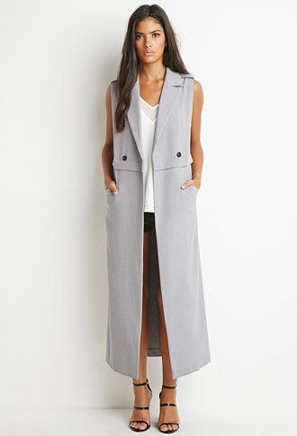 Double-Breasted Longline Vest | Forever 21 - 2000141903