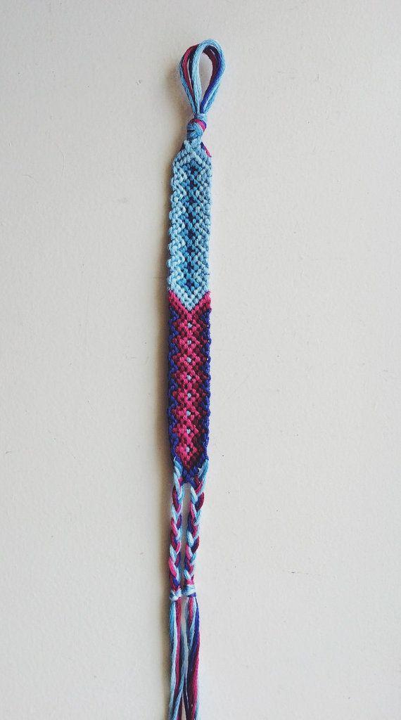 Geometric Friendship Bracelet by BraidsForBrains on Etsy