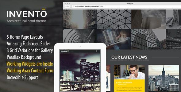 Invento Responsive Architecture Site Template