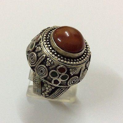 Men Engraved Carnelian Rings Near Eastern Vintage Agate Intaglio Afghan 10.5 US  | eBay
