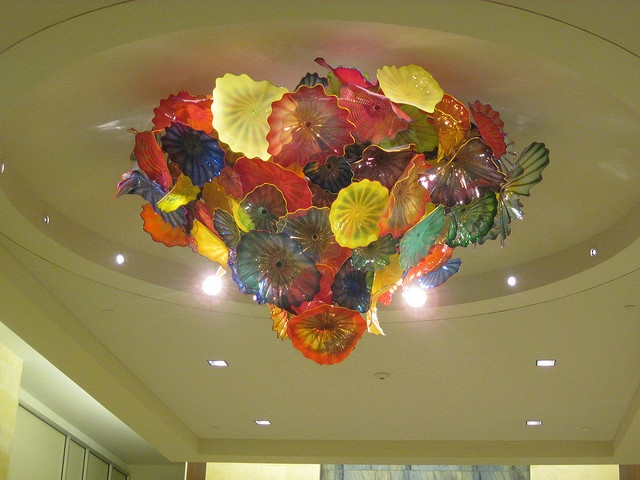 Dale Chihuly chandelier at Mayo Clinic in Jacksonville, FL