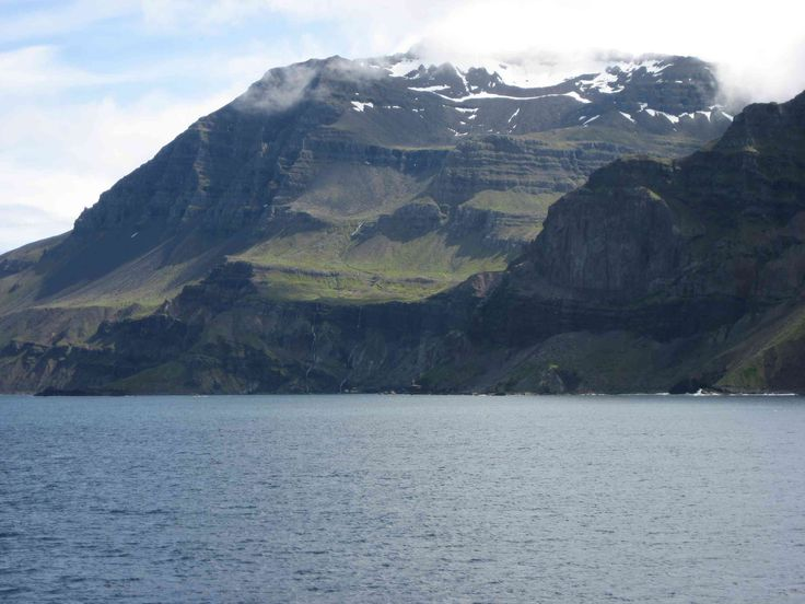 Coastline near Seydisfjordur, our last look at Iceland.