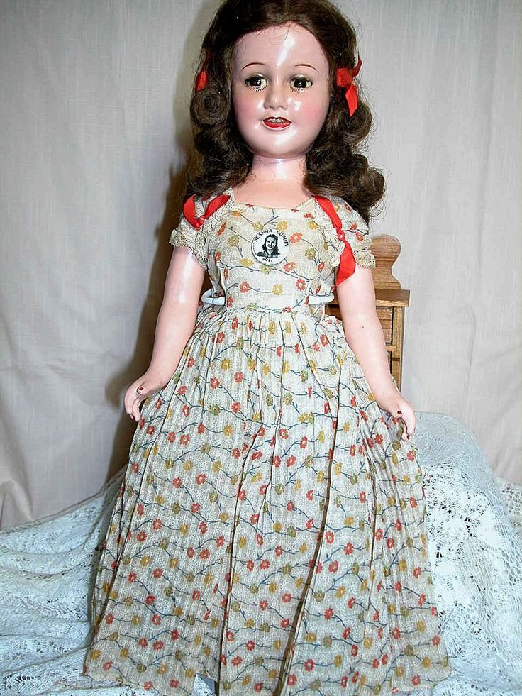 Ideal Deanna Durbin Composition Doll All Original Tag Dress The Pin 21 Quot Composition Dolls Pinterest Tags Dresses And Dolls