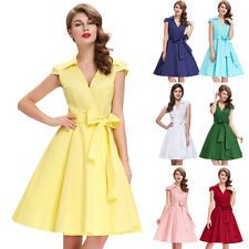 Mode Vintage Kleid 70er Jahre Abendlkleid Damenkleid Stretchkleid 9 Farbe S - XL