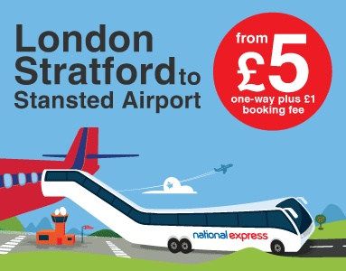 London Stansted Airport Bus & Coach Transfers // National Express Coach