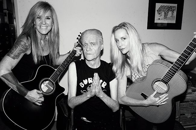 Kim Fowley with Cherie Curie of The Runaways in 2013