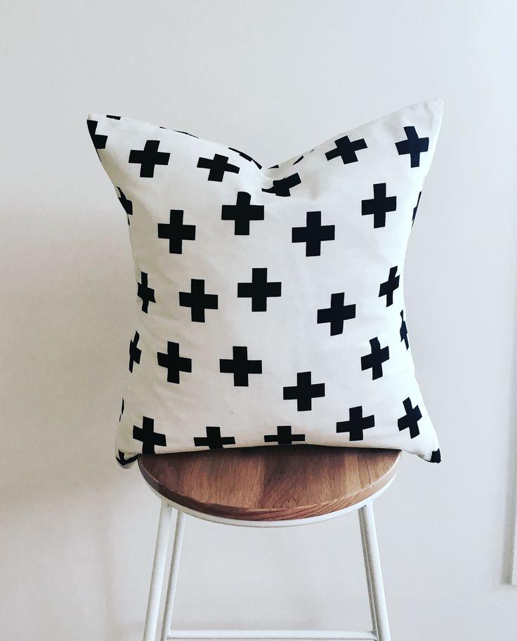 Swiss cross cushion cover 50cm x 50cm coordinates with the Swiss cross hamper.
