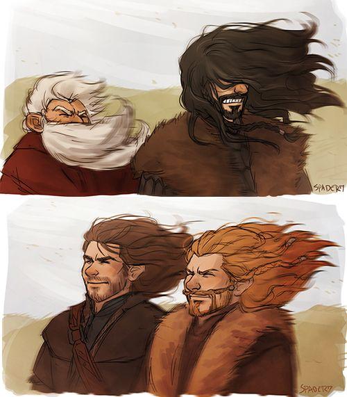 Fili  Kili: Hey Thorin  Thorin: What  Fili  Kili: sure is windy today isn't it  Thorin: Grrr  Fili  Kili: *whispers* so worth it!