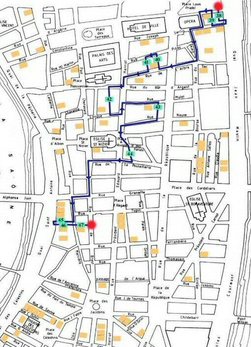 Plan du parcours Croix Rousse Est