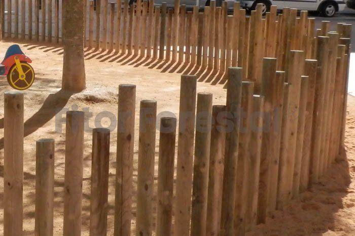 Empalizada poste torneado Fitor Forestal