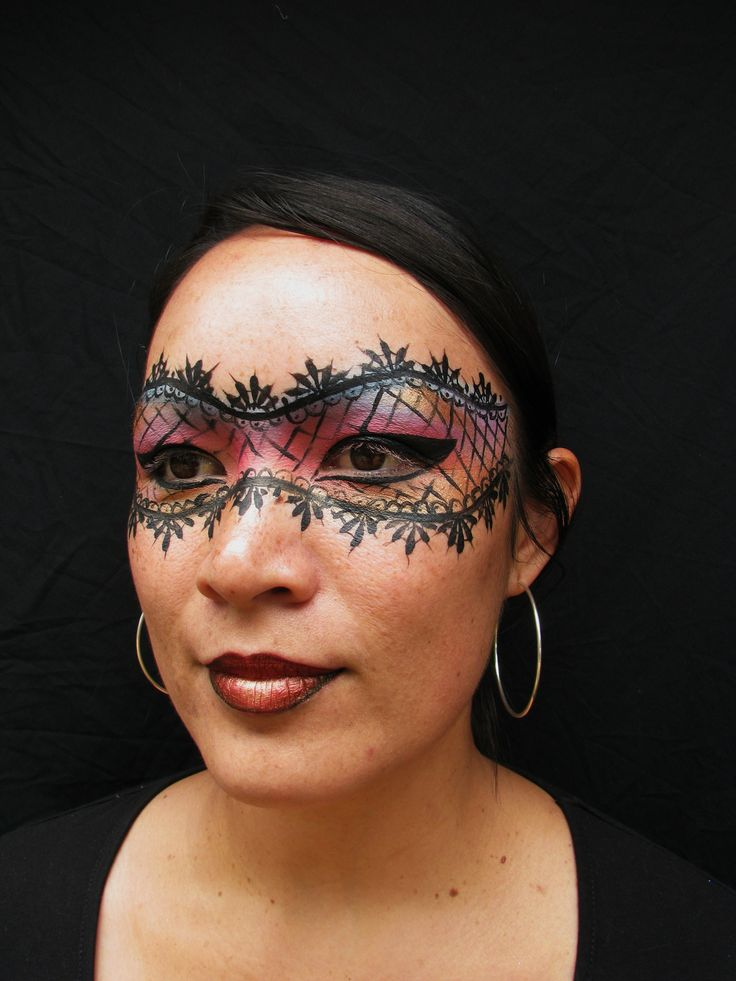Lace Mask Video Tutorial Slideshow—Face Painting Tips: Face Paints Shop