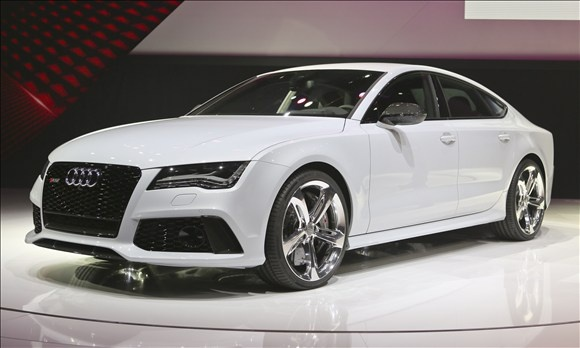 2014 Audi RS 7:    If the 420-horsepower S7 simply isn't powerful enough for you, step on up to the new Audi RS 7. A twin-turbocharged V8 engine launches this sexy German beast to 62 mph in less than four seconds and on to a top speed of 189 mph. It will hit dealerships in the third quarter.