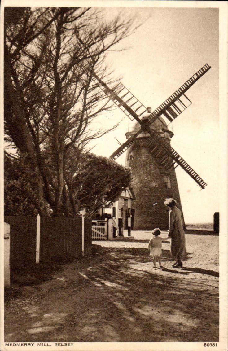 Medmerry Windmill near Selsey # 80381 by Photochrom. | eBay
