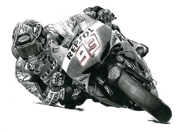 My drawing of Motogp wonderkid Marc Marquez on the Repsol Honda 2014 #motogp #mm93