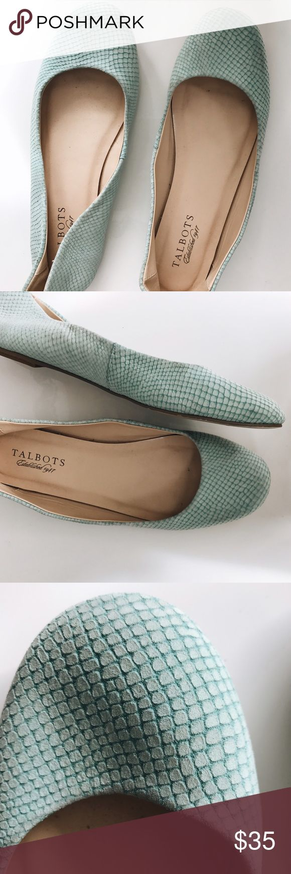 Talbots Teal Flat Sweet Talbots Teal flat. Perfect for teaching/any summer outfit! Good condition. Fits like size 8. Talbots Shoes Flats & Loafers