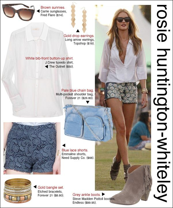 rosie huntington whiteleySummer Outfit, Shorts