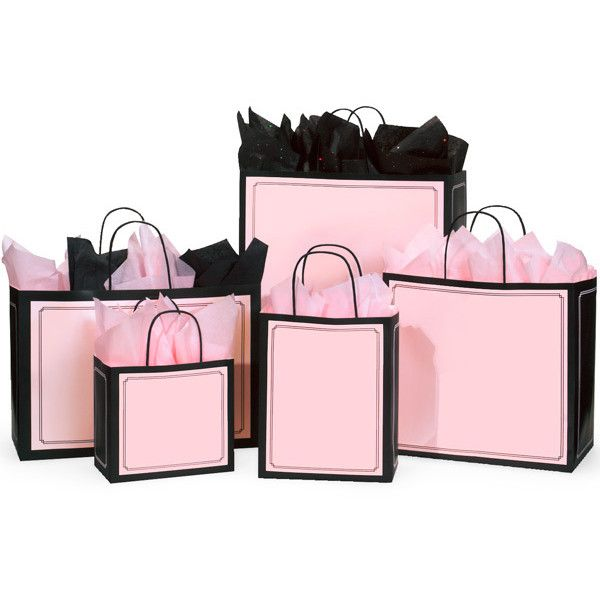 Pink & Black Duets Shoppings Bag Assortment found on Polyvore
