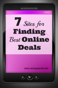7 sites for finding bargains and deals online. Save money by buying only at the cheapest prices possible. #frugal #frugality