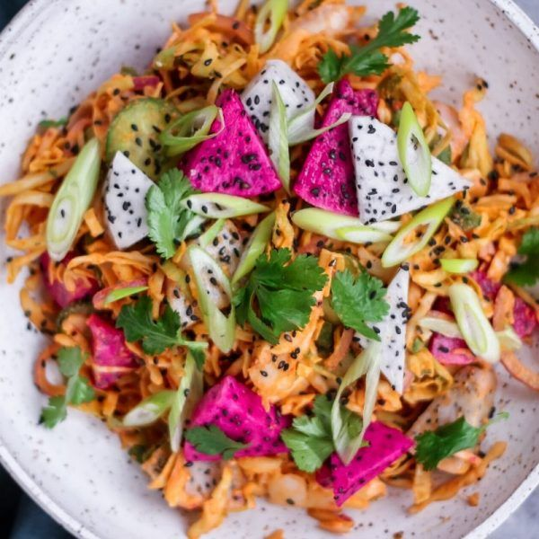 Curried Dragonfruit and Chicken Salad – Square