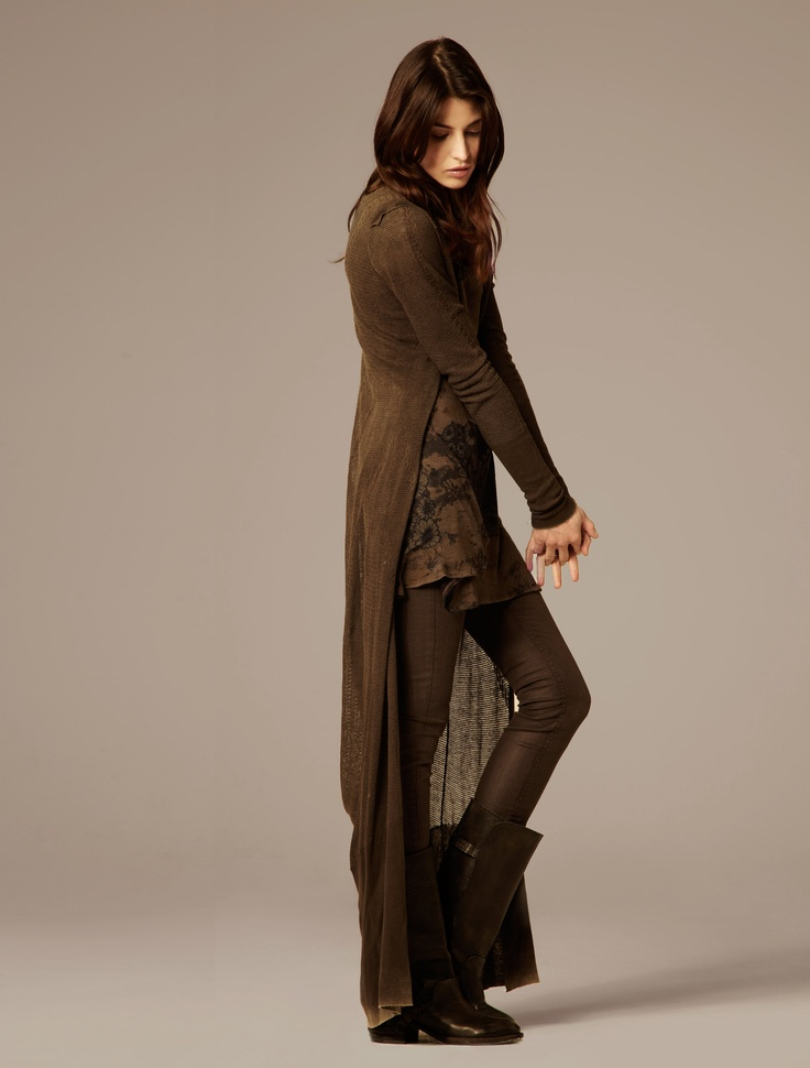 Fitch Maxi Cardigan, Night Storm Ls Dress, Forster Ashby tights, Ismaris Long Boot -- from AllSaints