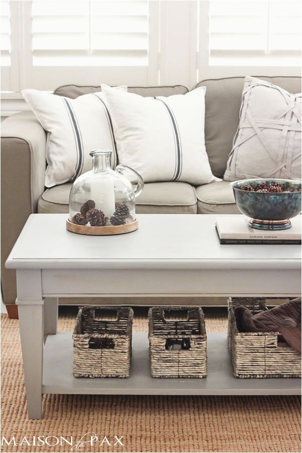 Diy Painting Coffee Table Gray Chalk Paint Coffee And Side Table Diy Living Room Decor Chalk Paint Coffee Table Painted Coffee Tables