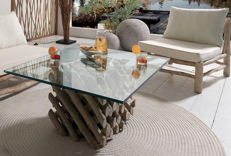 Decouvrez Nos Meubles Exotik La Tendance De L Exotisme Brut Table Basse Table Basse Plateau Table Basse Teck