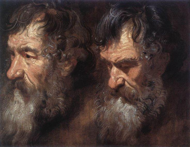 Studies of a Man0s Head - Anthony van Dyck - WikiPaintings.org