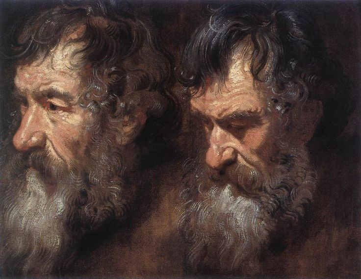 Studies of a Man0s Head - Anthony van Dyck - WikiPaintings.org