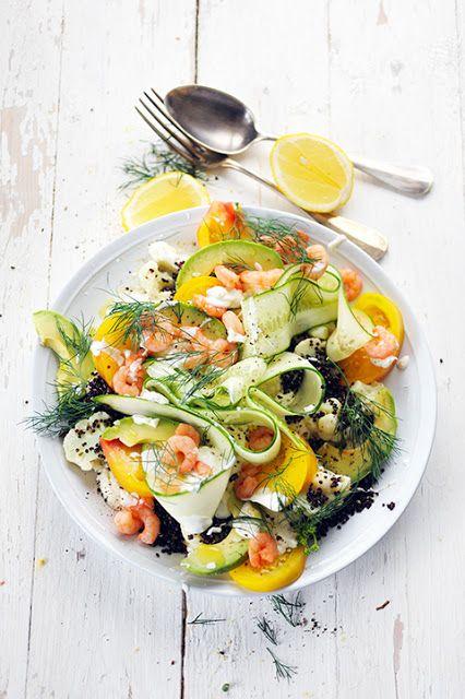 Dorian cuisine.com Mais pourquoi est-ce que je vous raconte ça... : Salade fraîcheur presque suédoise en images et presque sans rien dire... presque !